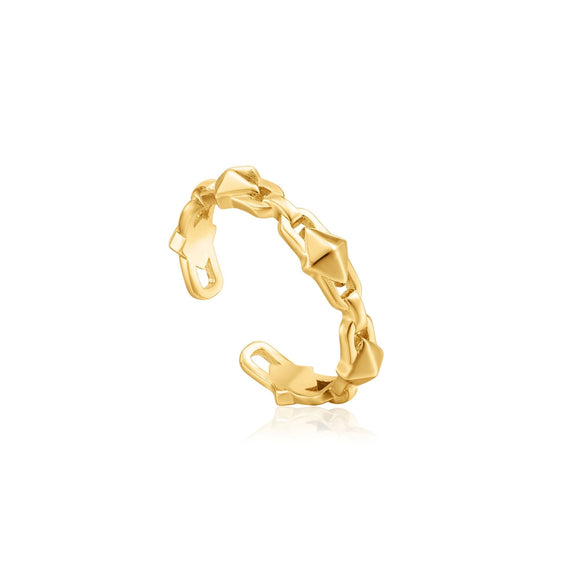 Ania Haie Spike It Up Gold Adjustable Ring