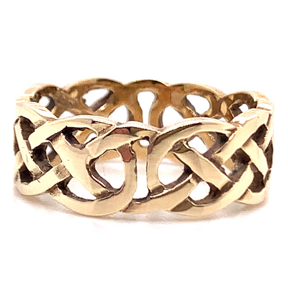 9ct Yellow Gold Celtic Style Gents Ring
