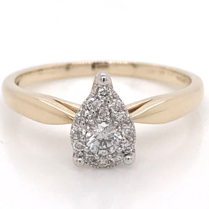 Diamond Illusion Pear Diamond Engagement Ring