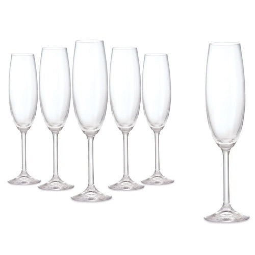 Tipperary Crystal Connoisseur Set of 6 Champagne Flute 220ml