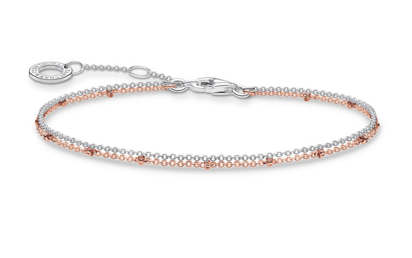 Thomas Sabo Double Layered Two Tone Bracelet