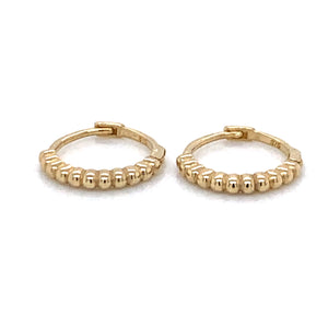 Ridged Hoops 9ct Gold