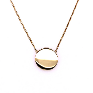 9ct Yellow Gold Mini Disc Pendant
