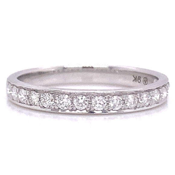 .33ct Pave Set Diamond Band White Gold
