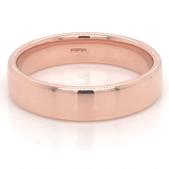 9ct Rose Gold Gents Wedding Band