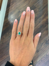 Load image into Gallery viewer, 18ct Yellow Gold Diamond and Emerald Ring