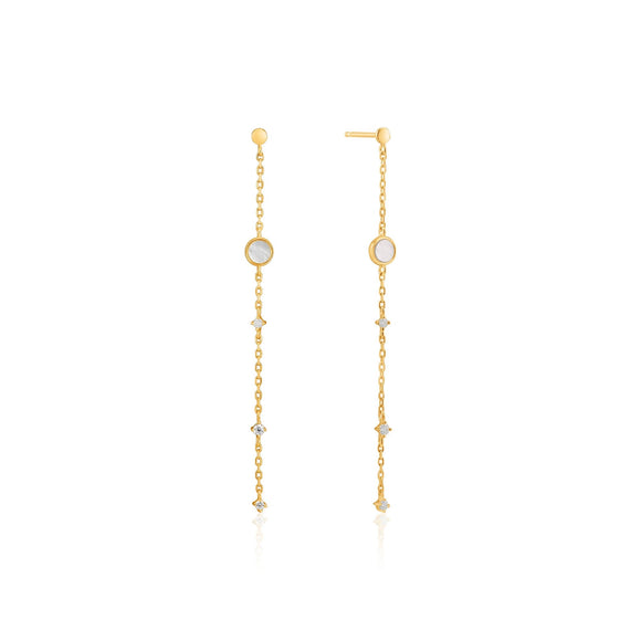 Ania Haie Gold Mother Of Pearl Drop Earrings E022-02G