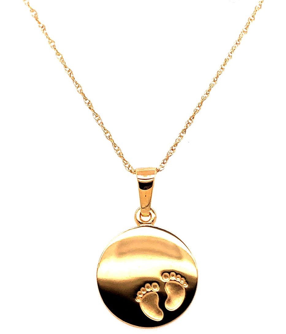 Baby Feet 9ct Gold Pendant