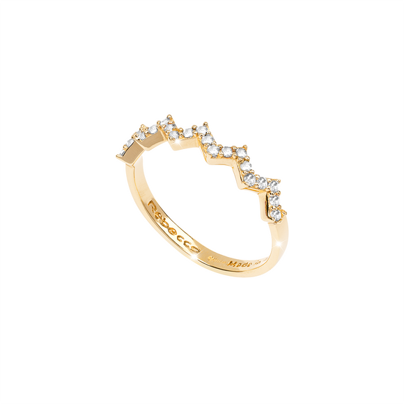 Rebecca Dubai Collection Gold Plated Cz Ring SDUAOB05