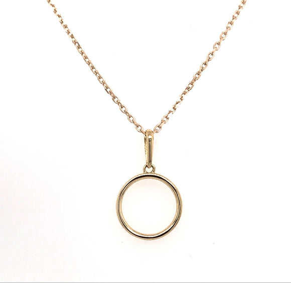 9ct Gold Plain Open Circle
