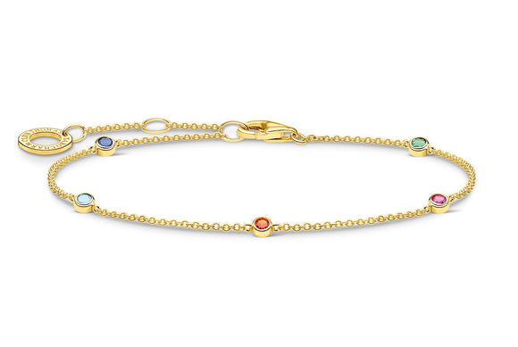 Thomas Sabo Gold Bracelet With Colourful Stones