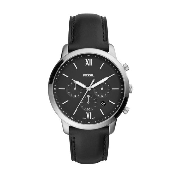 Fossil Neutra Chronograph Black Leather Watch FS5452