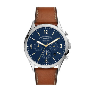Fossil Forrester Chronograph Luggage Leather Strap