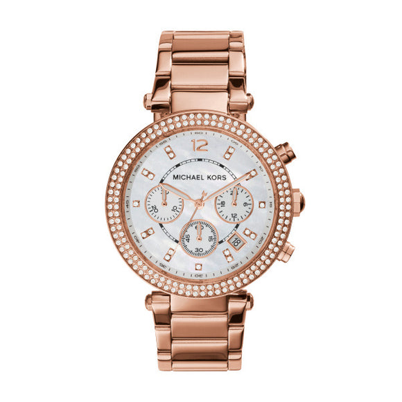 Michael Kors Parker Rose Gold Plated Ladies Watch