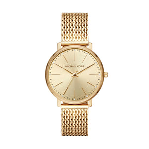 Michael Kors Pyper Gold Plated Mesh Strap Ladies Watch