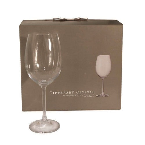 Tipperary Crystal Connoisseur Set of 6 Wine Glasses 450ml