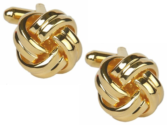 Double Cord Gold Plated Knot Cufflinks 90-9032