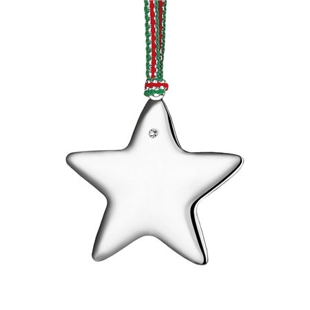 Newbridge Star With Clear Stone Hanging Decoration