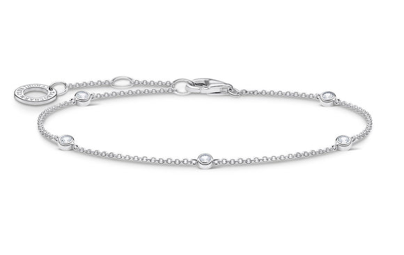 Thomas Sabo Sterling Silver Bracelet With Clear Stones
