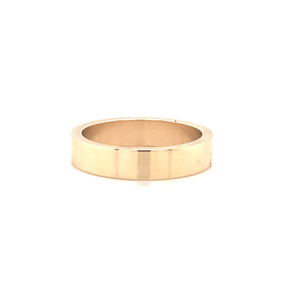 9ct Yellow Gold 4mm Band