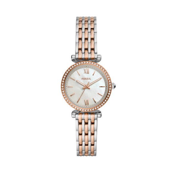 Fossil Ladies Carlie Mini Two Tone Watch ES4649