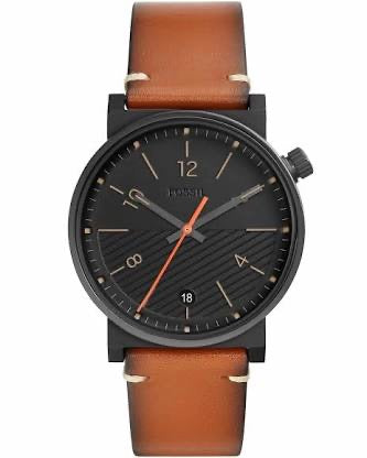 Fossil Barstow Three Hand Luggage Leather Strap Gents Watch FS5507