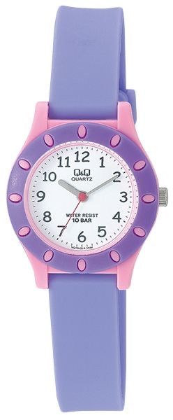 Q & Q Girls Pink And Purple Silicone Strap Watch