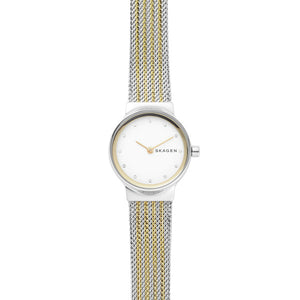 Skagen Two Tone Steel Mesh Watch SKW2698