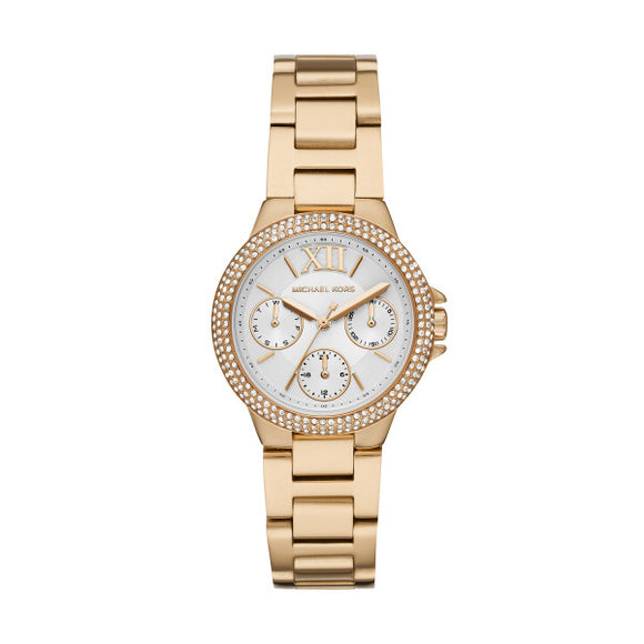 Michael Kors Camille Gold Stainless Steel Strap Ladies Watch MK6844