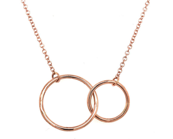 Tadgh Óg 9ct Rose Gold Double Circle Necklace