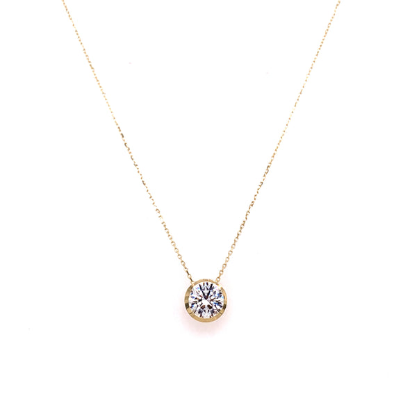 9ct Yellow Gold Cz Slider Pendant