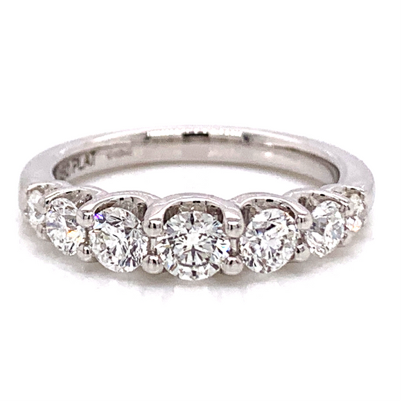 Incredible 1ct 7 Stone Tapered Eternity Band