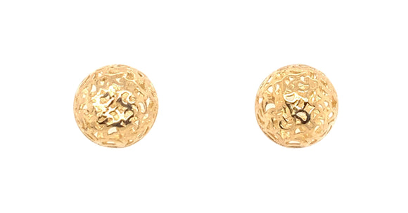 9ct Gold Dome Stud Earrings