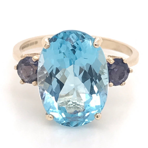 Topaz and Illodite ring
