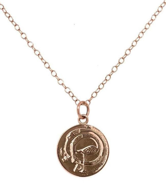 Tadgh Óg Solid 9ct Rose Gold Haypenny Irish Coin Pendant