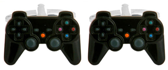 PS3 Controller Rhodium Plated Cufflinks