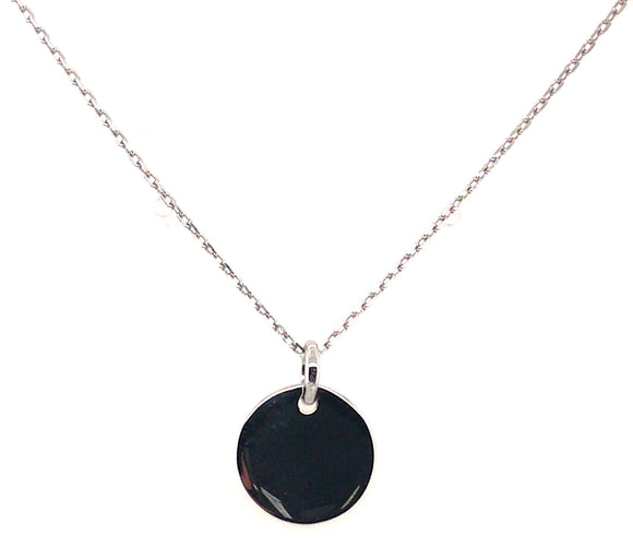 Sterling Silver 12mm Engrave-able Disc Pendant