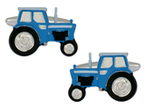Blue Tractor Rhodium Plated Cufflinks 90-1296