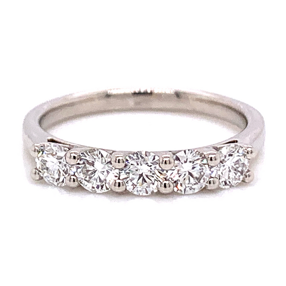 Platinum 0.80ct Five Stone Eternity Ring