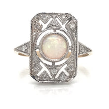 Load image into Gallery viewer, Opal & Diamond Ring