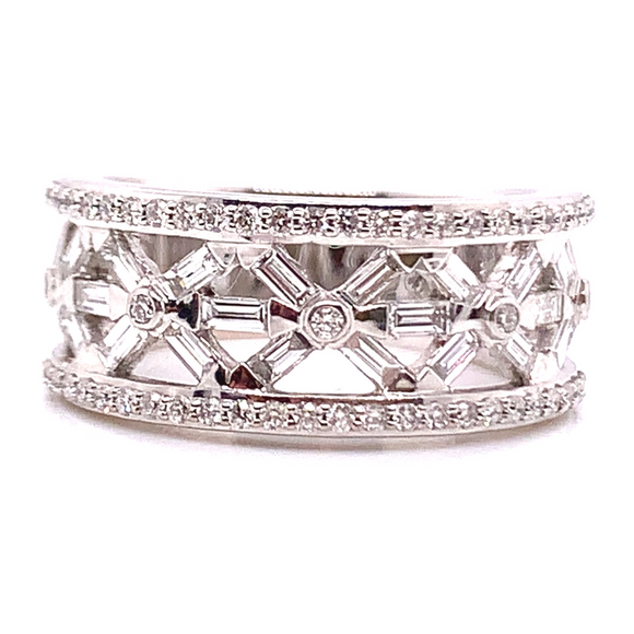 18ct White Gold Baguette Style Diamond Eternity Band