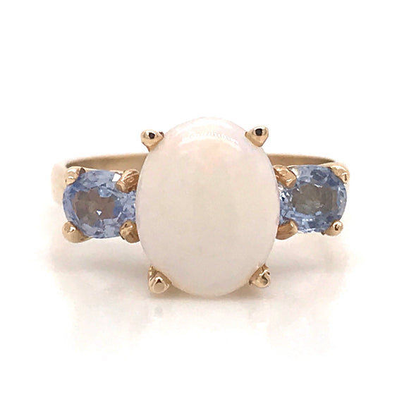 Opal and Kanchan Sapphire Ring