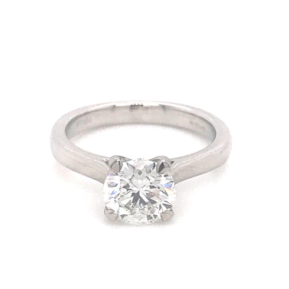 Platinum Four Claw Solitaire Ring