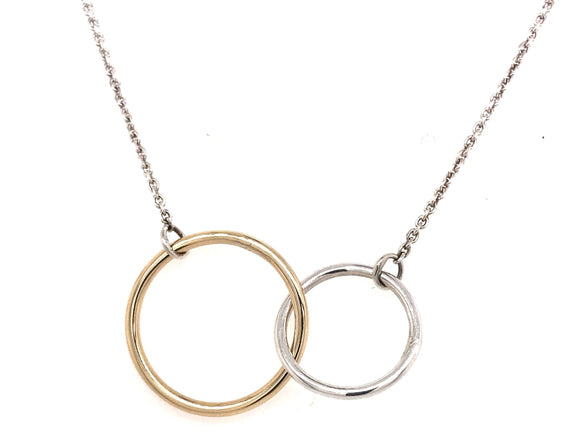 Tadgh Óg Gold & Silver Double Circle Pendant