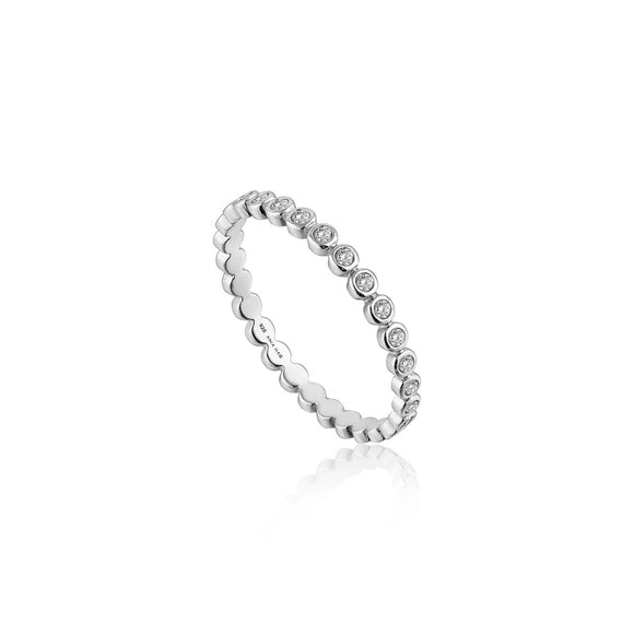 ANIA HAIE Shimmer Half Eternity Ring Silver