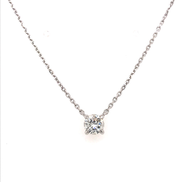 Floating Diamond Pendant 0.65ct