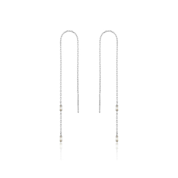 Ania Haie Silver Glow Threader Earrings