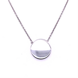 9ct White Gold Mini Disc Pendant