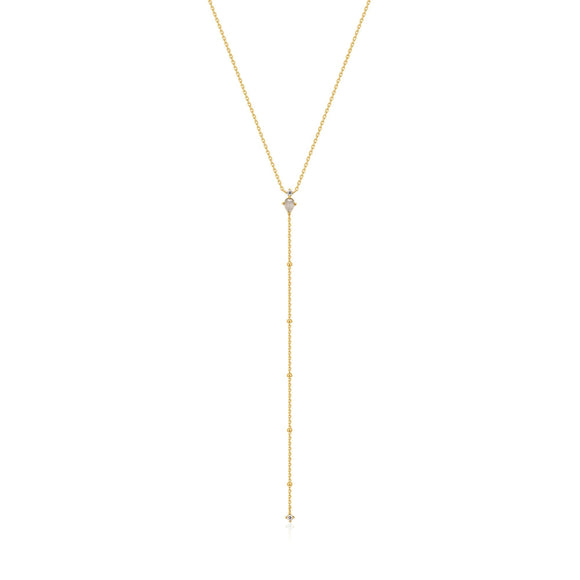 Ania Haie Midnight Fever Gold Y Necklace