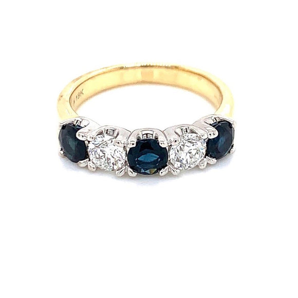 18ct Yellow Gold Sapphire & Diamond
